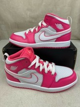 Nike Air Jordan 1 Mid Hyper Pink Youth Size 2.5y New in Box [640737-611] - $99.00