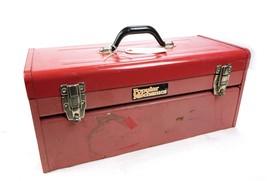 "Vintage Popular Mechanics 20.5"" x 10"" x 9"" Red Tool Box w Tray - $28.06"
