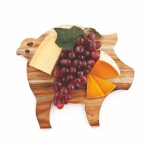 Cutting Board Cheese, Acacia Wood Unique Pig Rustic Serving Elegant Chee... - $25.49