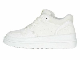 UGG Highland White Women's Faux Leather Lace Up Sneakers 1111336 - $89.00