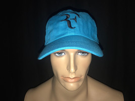 Nike RF Roger Federer Tennis Dri-fit Hat Cap Neo Turquoise - $54.65