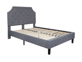 Offex Tufted Upholstered Platform Bed in Light Gray Fabric - Full Size - $368.94