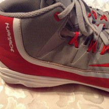 Nike baseball cleats Size 13 Huarache red gray athletic sports shoes Mens - $54.99