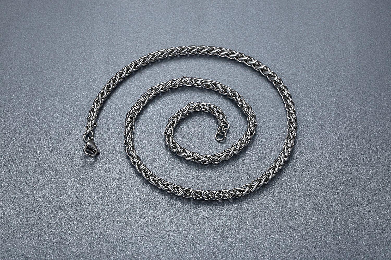 Men's Stainless Steel Celtic Cross Filigree Irish Knot Pendant Necklace, 24'