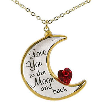 """Love You To The Moon"" Pendant Necklace"