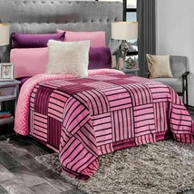 Liverpool Different Toned Pink Striped Reversible Lightweight Blanket - $54.40+