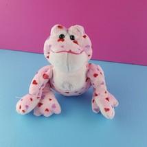 """Ganz Webkinz Pink Plush Love Frog HM114 9"""" No Code Valentine Hearts  - $15.83"""