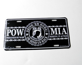 POW MIA Bring us Home or Sent us Back Embossed ... - $7.79