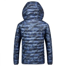 2018 Winter New Thin Down Jacket Short Section Men's Hood Down Jacket Men's Slim image 4