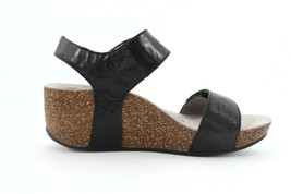 Abeo Una Wedges Sandals Black Women's Size US 11 Neutral Footbed ()  - $93.15
