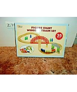 First Learning Figure 8 Wooden Train Set - 35 Piece - $19.99