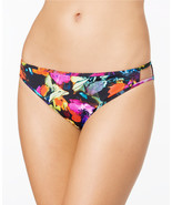 NEW BAR III Painted Posies Strappy Cutout Sides Bikini Bottom Swim L Large - $11.87