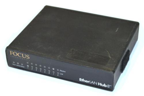 FOCUS ETHERLAN HUB8 WITH POWER ADAPTER - $39.99