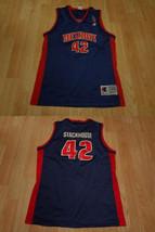Youth Detroit Pistons Jerry Stackhouse L (14/16) Champion Vintage Jersey(Blue) J - $16.82