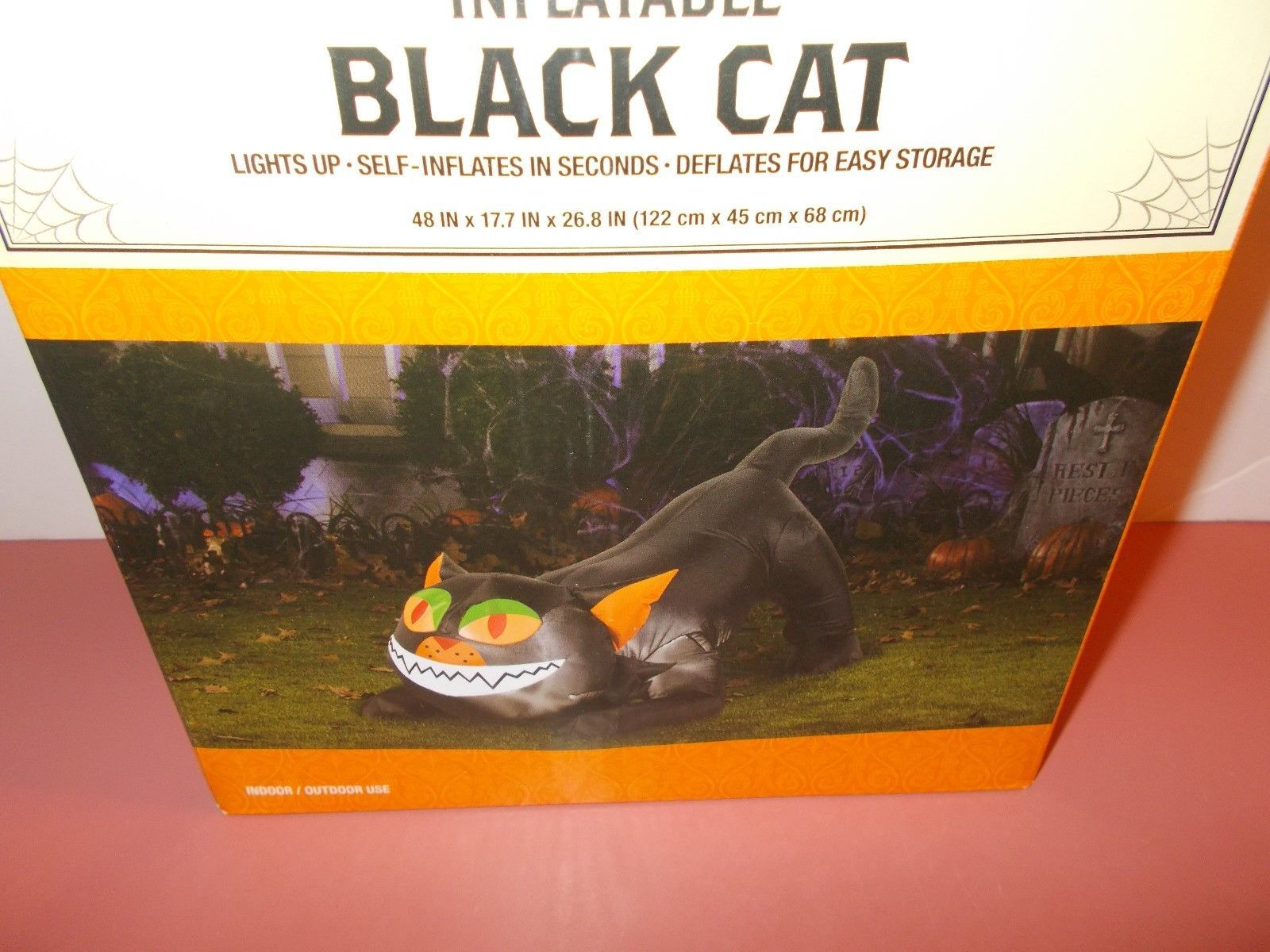 Airblown Inflatable 4 Ft Black Cat Up Lights and 21 similar