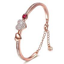"""Sweet Lady - Mind Meld"" 7 Inches Heart Bangle Bracelet for women with Swarovski - $59.95"