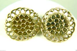Maxamm 5th Avenue Gold tone Metal roung screw clip earrings - $23.72