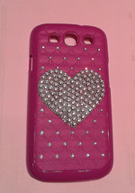 BLING Custom Rhinestone Purple Samsung Galaxy S3 or S4 Cell Phone Case With Clea - $9.50
