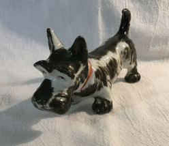Vintage Dog Figurine Scottie Scottish Terrier Ceramic Japan - $8.59