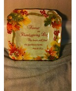 222 FIFTH  THANKSGIVING SQUARE PLATE--AUTUMN CELEBRATION --FREE SHIP--VGC - $20.80