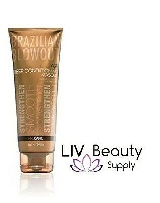 Primary image for NEW & Authentic Brazilian Blowout Anti-Frizz Acai Deep Conditioning Masque 8 oz