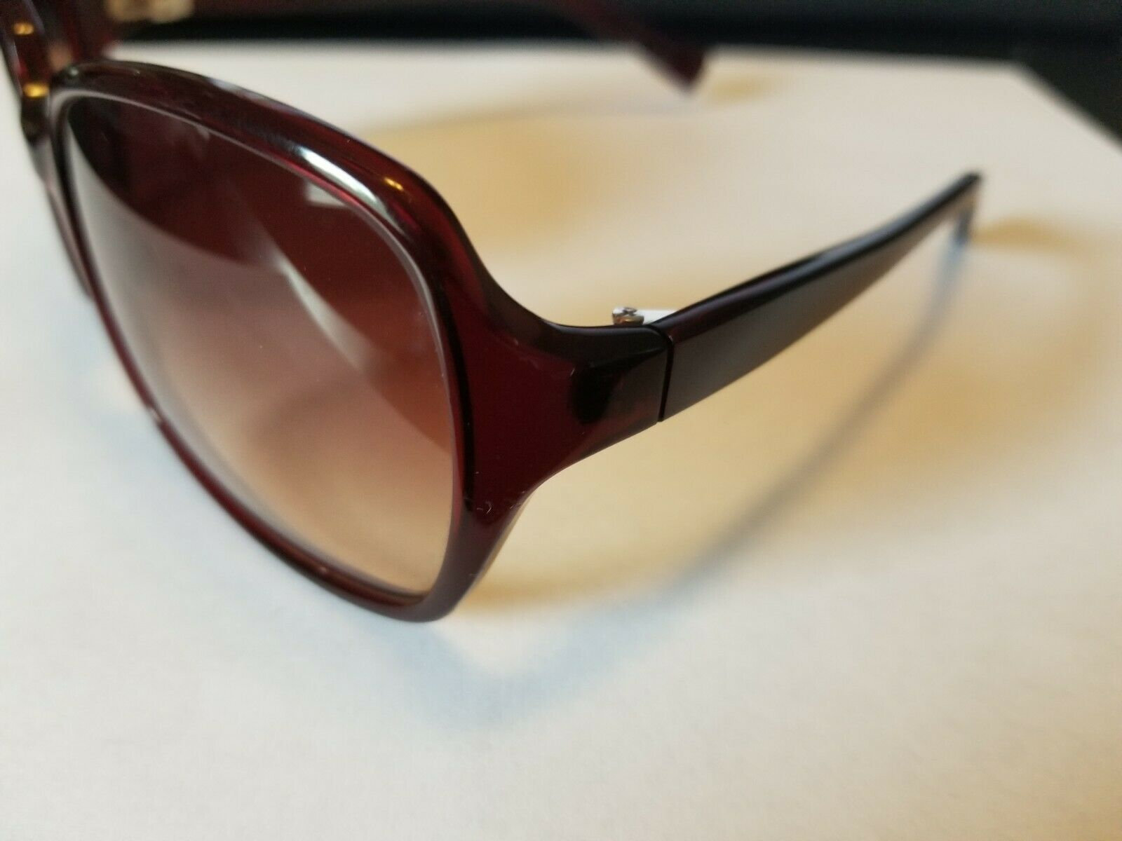 OLIVER PEOPLES Candice SI Sunglasses Glossy Transparent Dark Burgundy Red ..NEW image 3