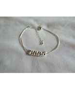 925 Sterling Silver Ball Charm Anklet - New - $14.85