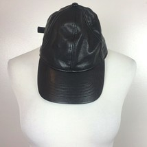 Faux Leather Hat Cap Black Vegan Adjustable OSFM Unisex Street Wear Casual - $14.49