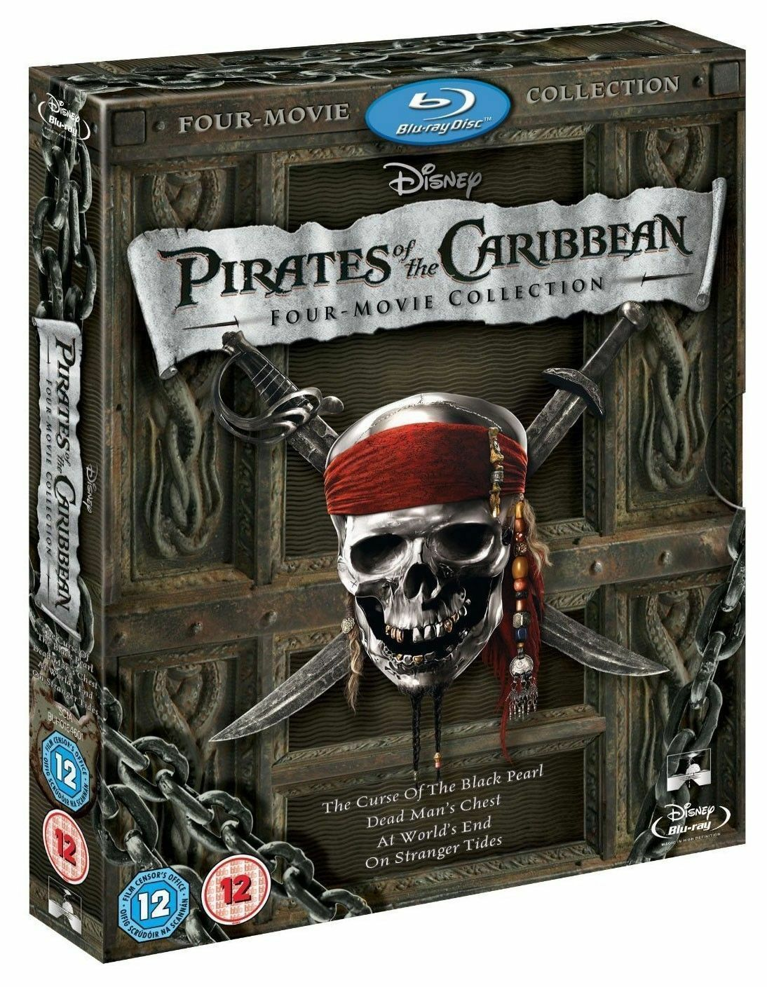 Disney Pirates of the Caribbean: 1-4 Boxed Set (Blu-ray)
