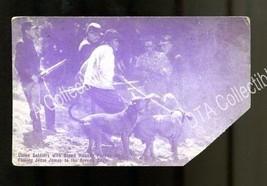 UNION SOLDIERS & BLOOD HOUNDS PURSUE JESSE JAMES-1920-ARCADE CARD G - $16.30