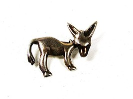 Vintage Mexican Silver Donkey w/ Moveable Head Brooch 81516 - $29.99