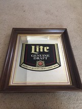 "Lite Genuine Draft Mirror Sign Framed BIG!!! 28""x25"" - $43.93"