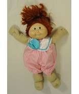 Cabbage Patch Kids 012-30cp Vintage Doll Pink Jumpsuit Plastic Fabric - $21.96