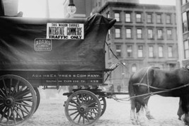 Horse & Wagon with sign saying that it is being used in Interstate Commerce Only - $19.99+