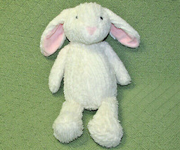 "14"" CHENILLE BUNNY MANHATTAN TOY PLUSH OFF WHITE RABBIT STUFFED ANIMAL P... - $28.71"