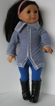 """Madame Alexander Outfit Fits 18"""" Doll EUC Striped Sweater, Leggings, Boots - $17.81"""
