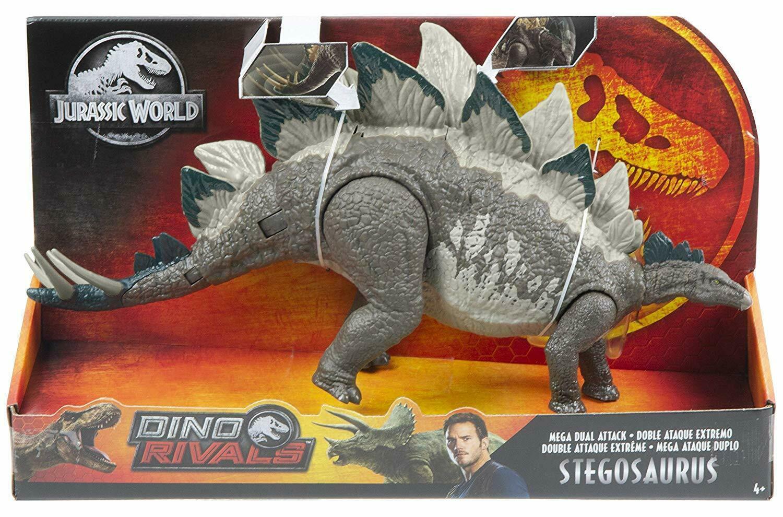 2019 Mattel Jurassic World Dual Attack Stegosaurus Figure