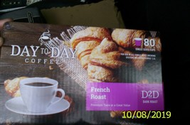 Day to Day Coffee Keurig Cups (K-cups) 80 Count French Roast (Dark Roast) New Fr - $29.69