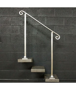 5 Foot Aluminum Stair Railing Handrail | Base Plate Posts | Aluminum Gra... - $220.00
