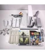 Nintendo Wii White Console RVL-001 Game Cube Compatible Bundle W/ Games EUC - $102.49
