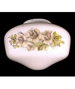 Schoolhouse Ceiling Light Shade Roses White Glass Globe Flush Mount 4 X ... - $14.95