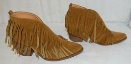 Beast Fashion Carrie 01 Camel Fringe Slip On Shoes Size Ten image 3