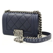 CHANEL Boy Chanel Small Calf Leather Navy A67085 Shoulder Bag Authentic ... - $67.134,66 MXN
