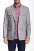 Vince Camuto VB029S Mens Light Grey Utility Field Jacket Sport Coat Blaz... - $87.99