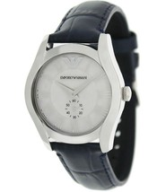 Emporio Armani AR1668 Classic Blue Leather Strap Womens Watch - $87.68