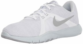Nike Flex Trainer 8 Women's Shoes 924339 White/Metallic Silver 9.5 M - $59.39