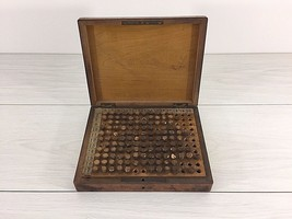 Rare French 1900 walnut box chest apothecary homeopathic bottles contents - $390.00