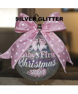 """Baby's First Christmas Ornament, Personalized Ornament, 4"""" plastic ornament - $18.50"""