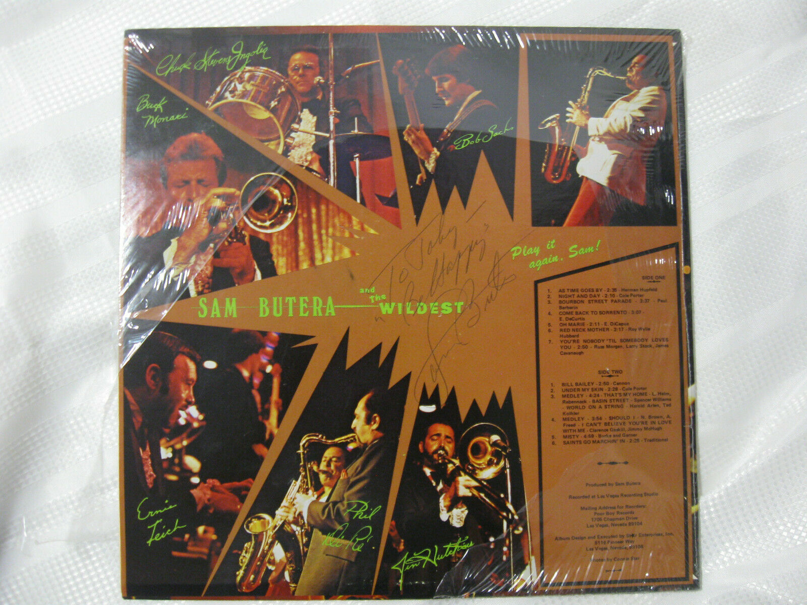 Sam Butera Play It Again Poor Boy PB1002 Vinyl Record Sealed LP SIGNED Toby image 2