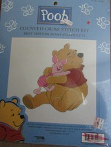 Winnie the Pooh Counted Cross Stitch Kit Best Friends Pooh and Piglet New - $16.95